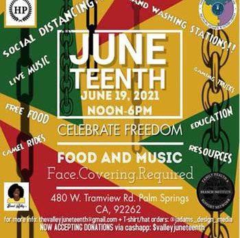 Juneteenth event flyer