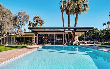 Mid-century modern home and pool