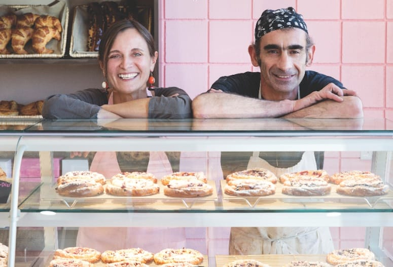 Helen and christophe meyer of Peninsula pastries