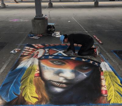 Chalk Art Festival artisit