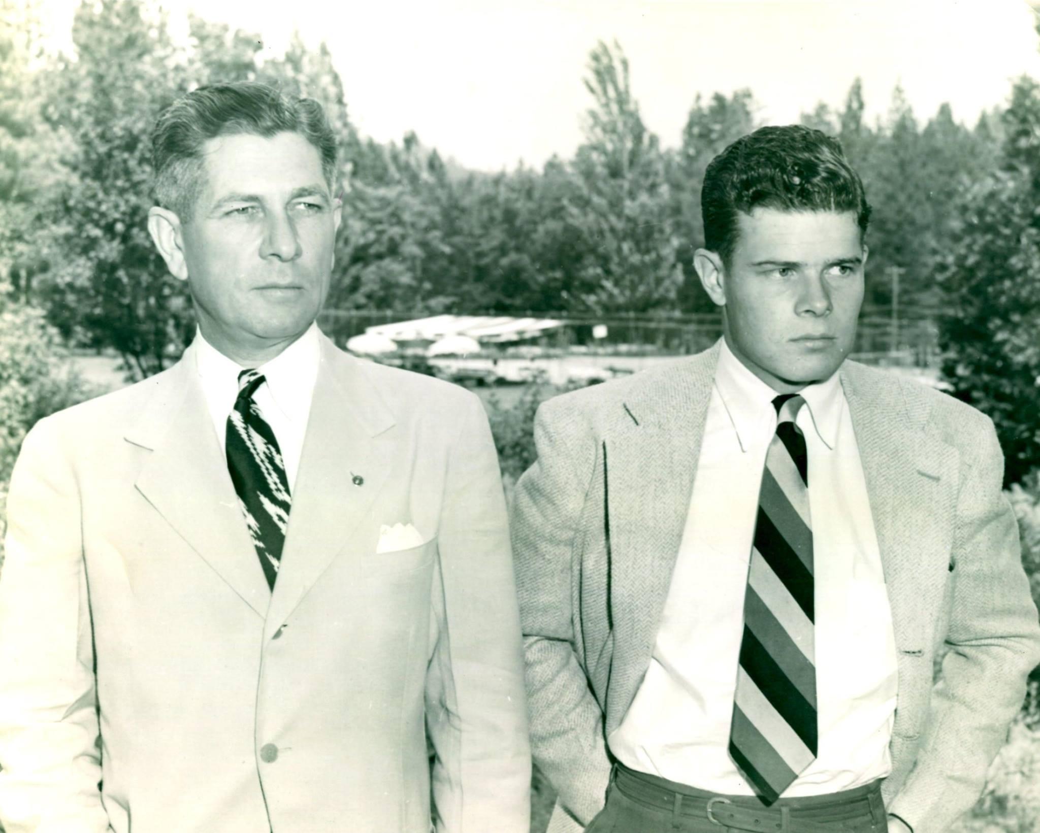 Earl Coffman with his son, Owen Coffman