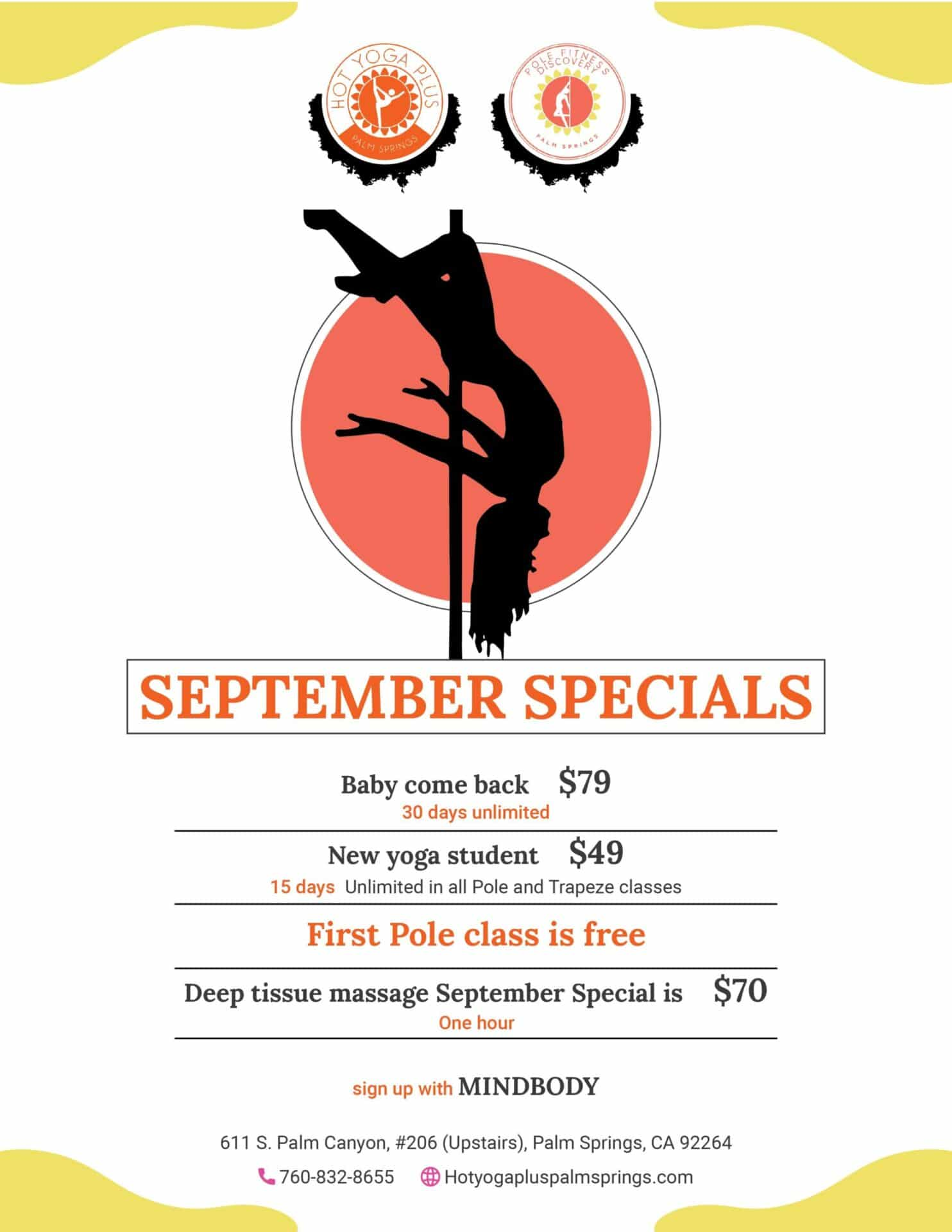 Hot Yoga September deals