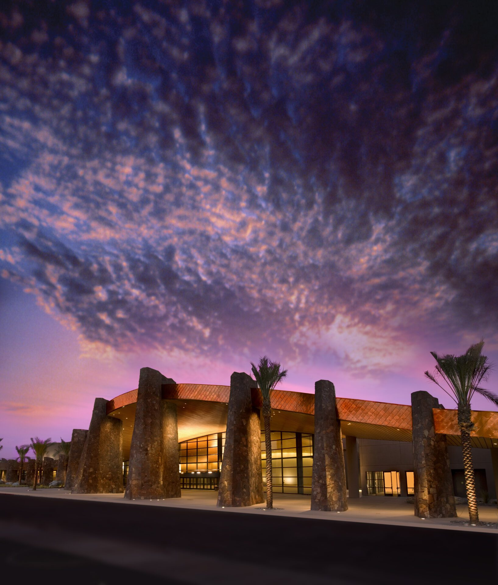 palm springs convention center dusk