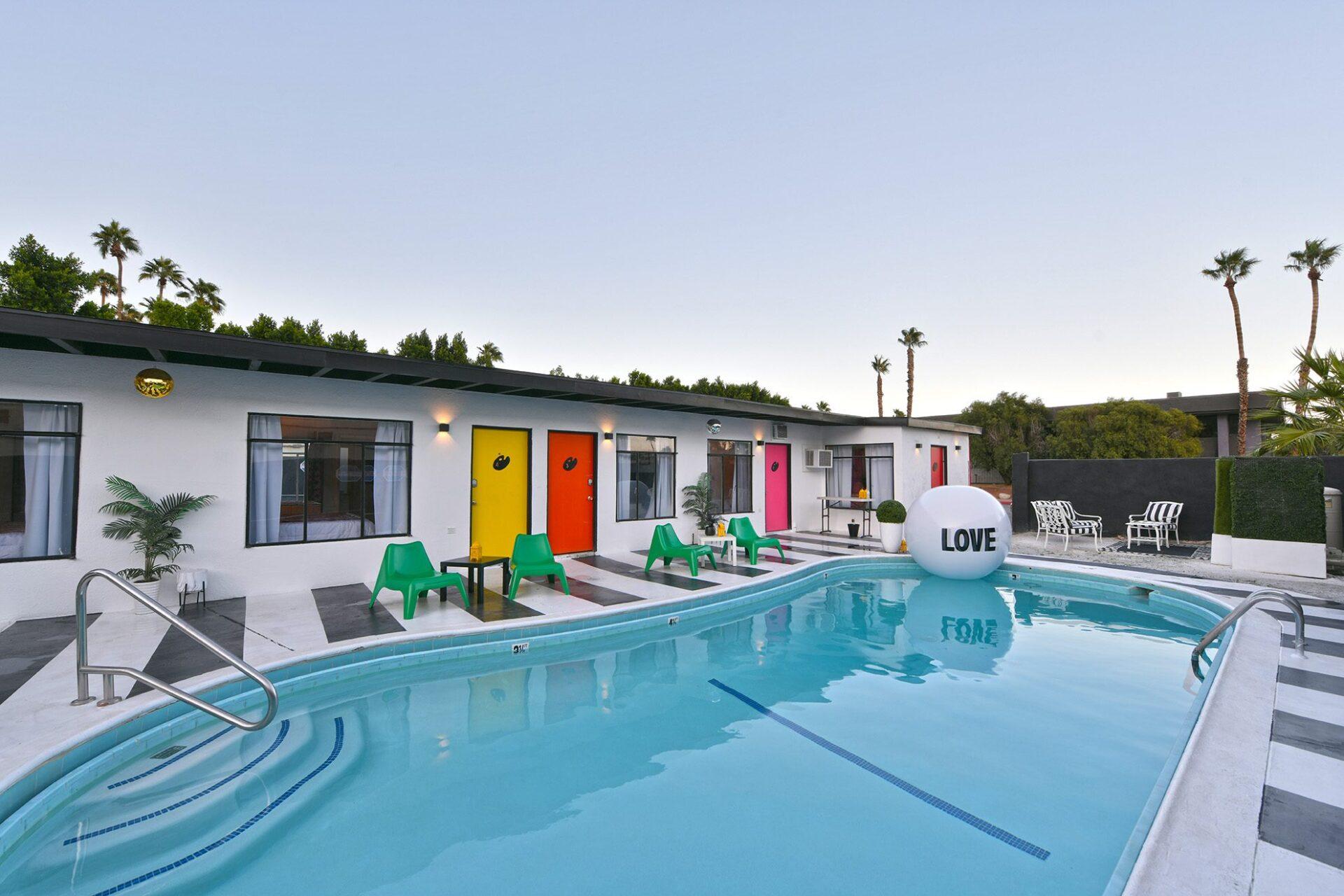 art hotel pool