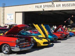 classic cars at air museum